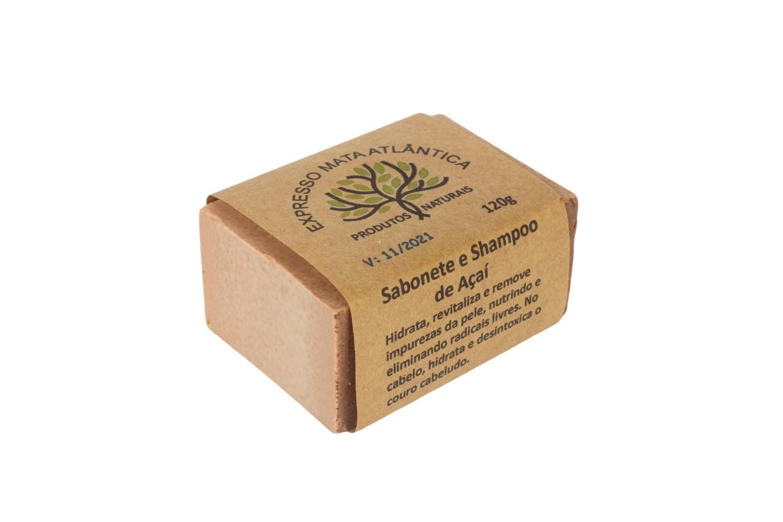 Shampoo barra Vegano  Natural Açaí da Expresso Mata Atlântica