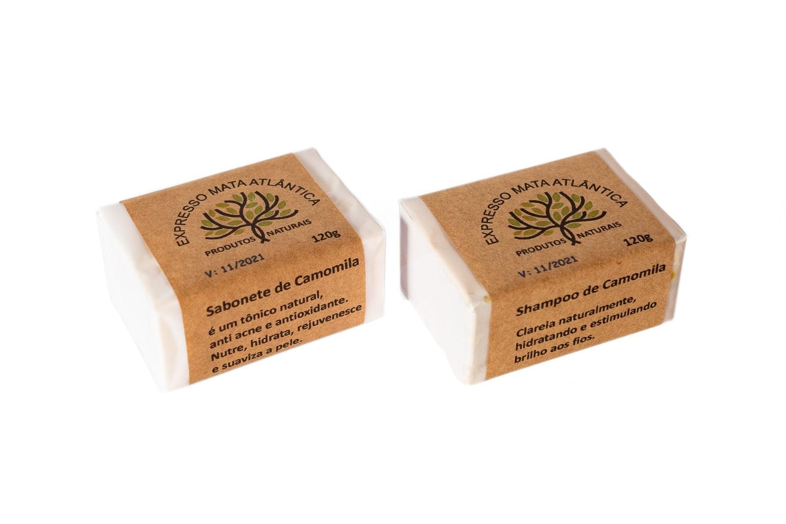 Shampoo e Sabonete sólidos Veganos Naturais  Camomila da Expresso Mata Atlântica