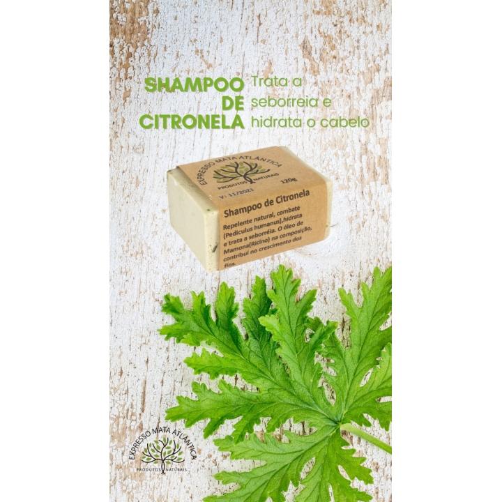 Shampoo Sólido Vegano Citronela da Expresso Mata Atlântica