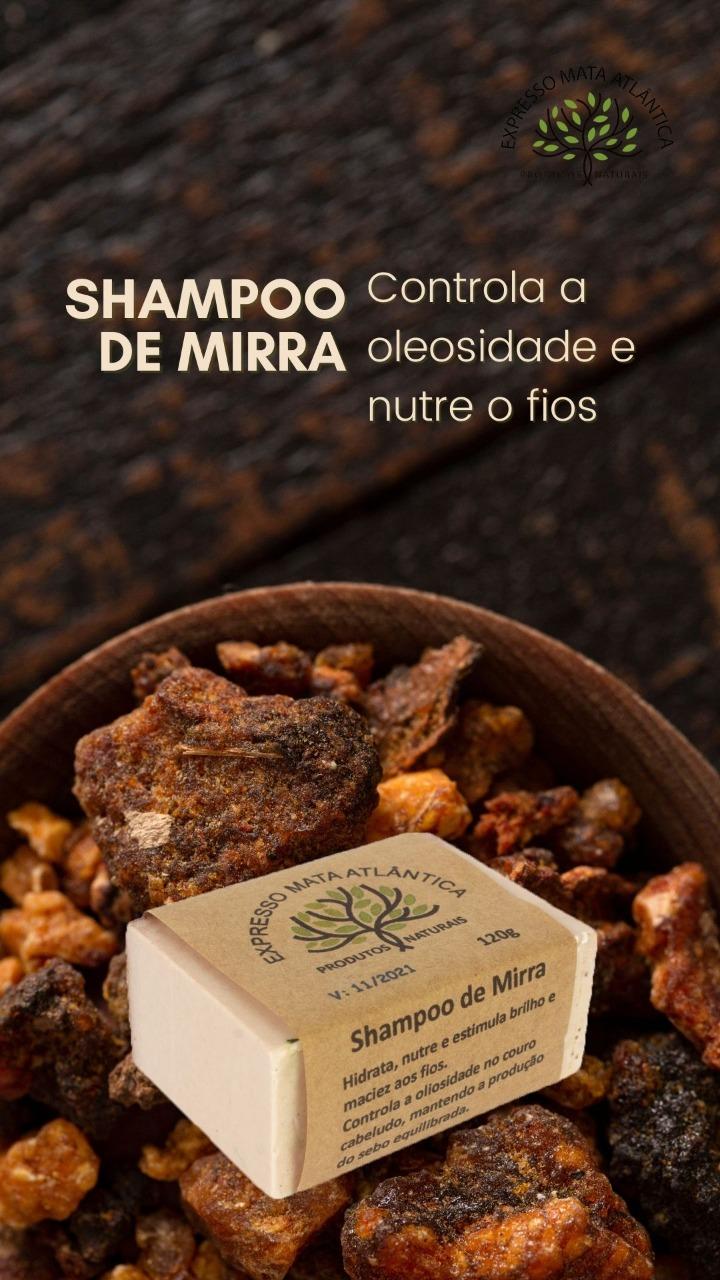 Shampoo Sólido Vegano de Mirra Expresso Mata Atlântica