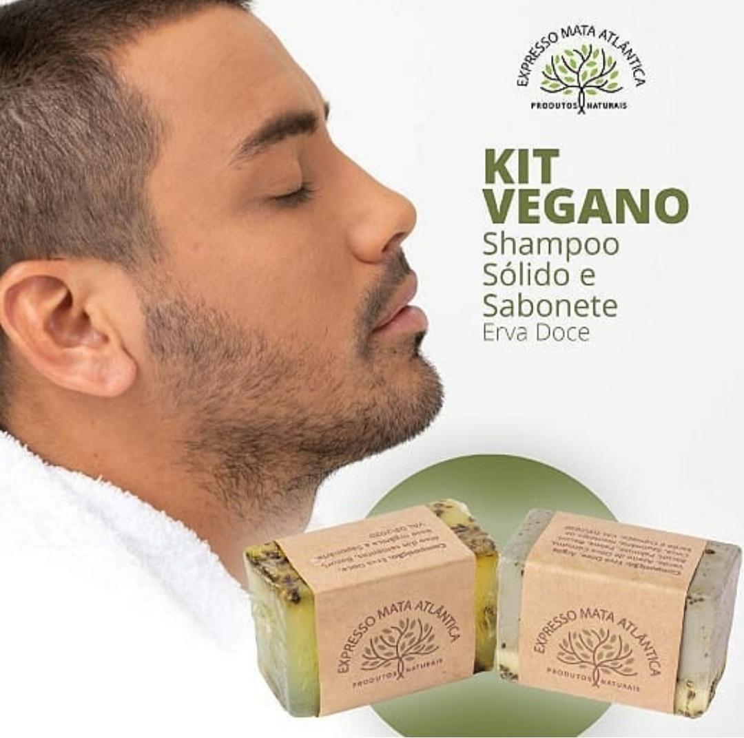 Shampoo  Sólido Vegano  e Sabonete de Erva Doce Expresso Mata Atlântica