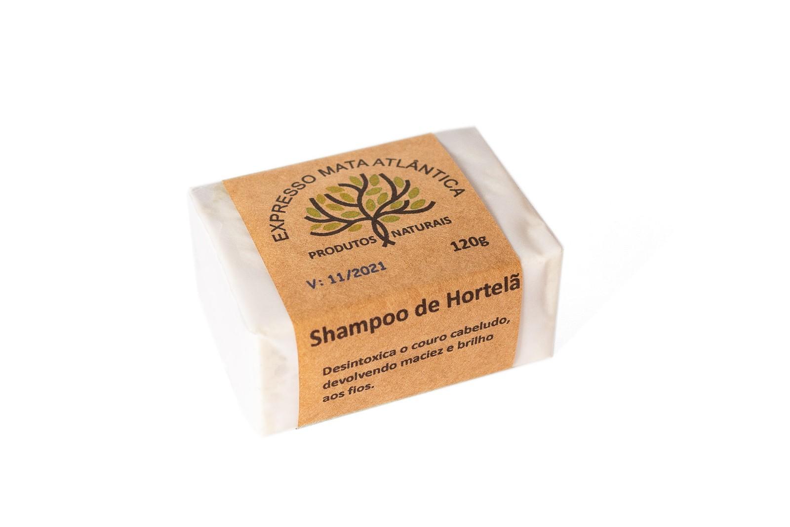Shampoo Sólido Vegano Hortelã da Expresso Mata Atlântica