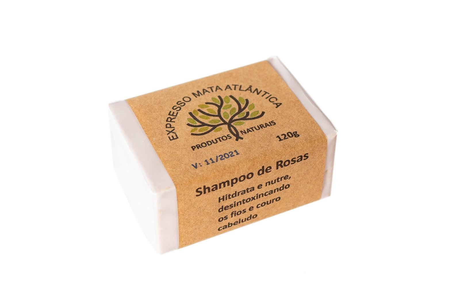 Shampoo Sólido Vegano Rosas da Expresso Mata Atlântica