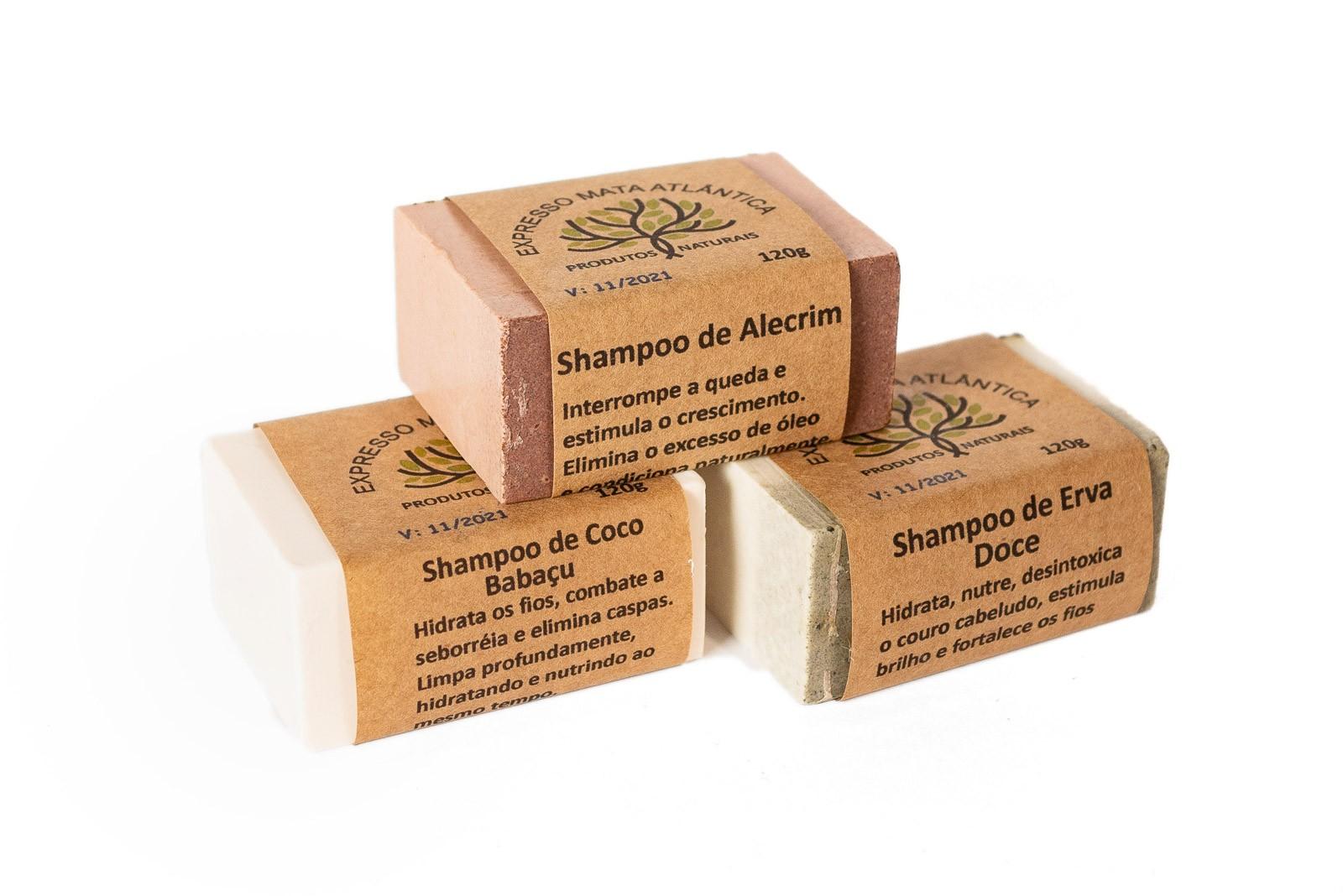 Shampoos Barra Veganos Naturais da Expresso Mata Atlântica
