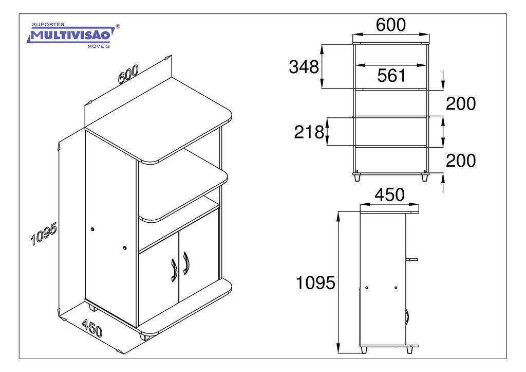 Armário Multiuso para Micro-Ondas/Forno elétrico