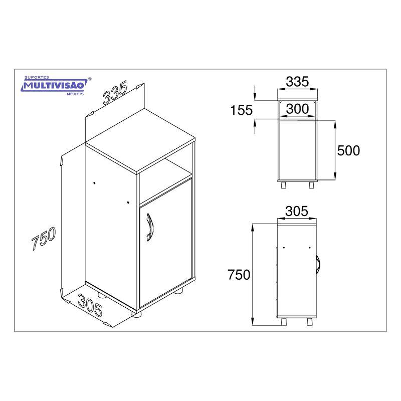 Gabinete com porta para filtro