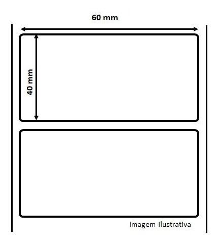 Kit 5 Rolos Etiqueta Adesiva Térmica 60X40