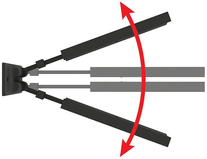 Suporte biarticulado com inclinação para TV e DVD de 14 a 56 polegadas + Suporte para DVD | BLU-RAY | ACESSÓRIOS