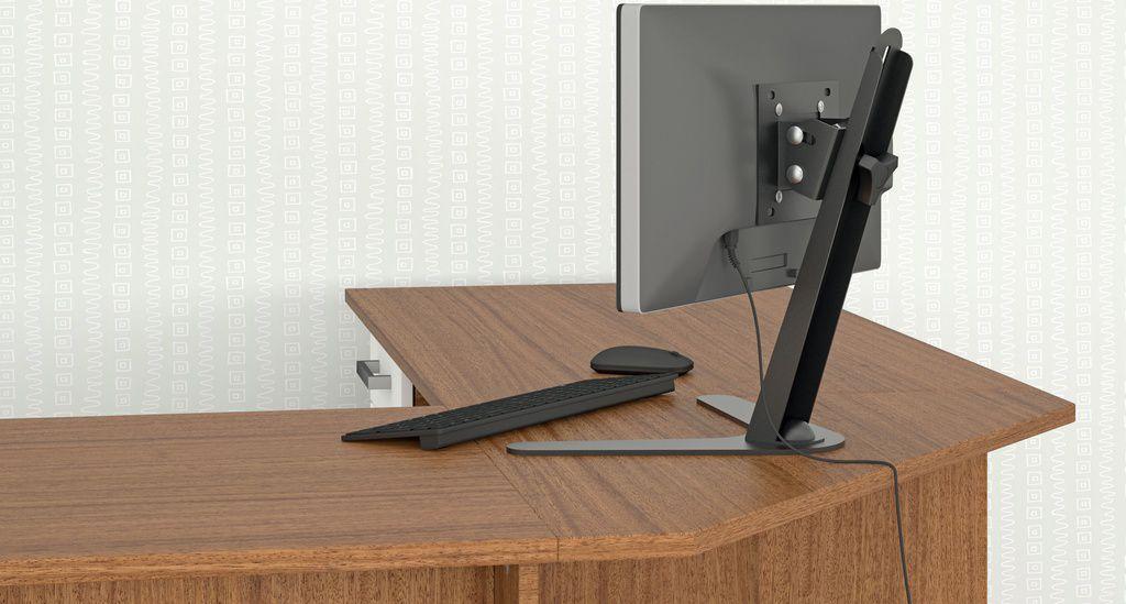 Suporte com ajustes de altura e inclinação para Monitores de 10 à 24 polegadas