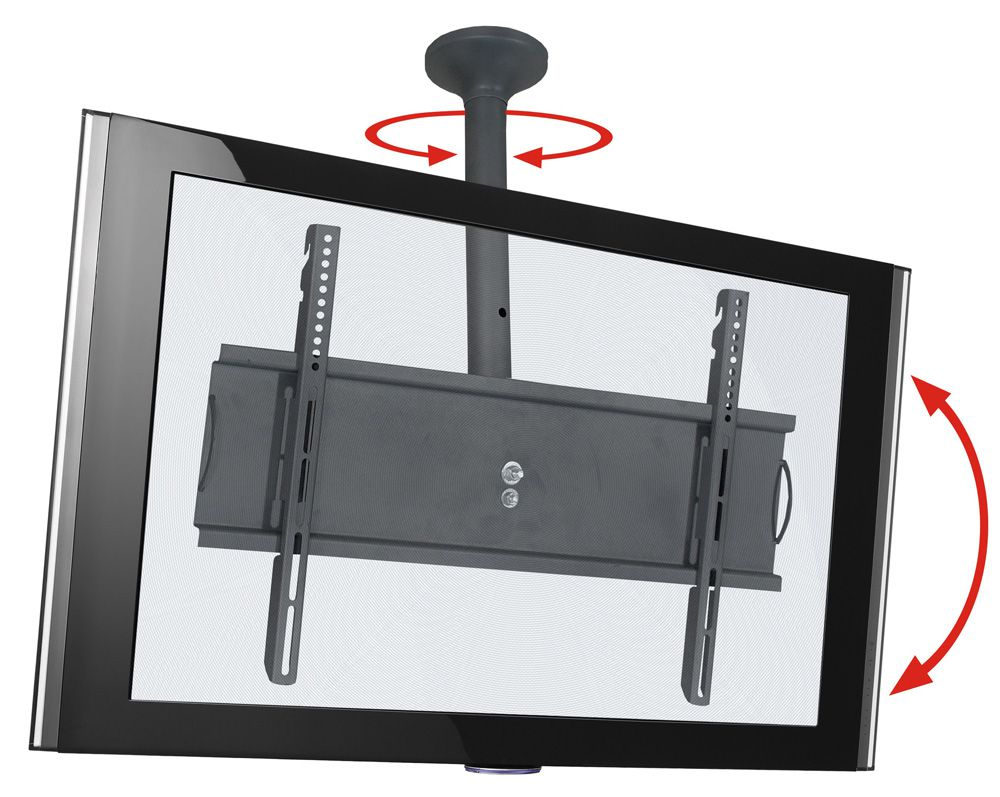 Suporte de teto com inclinação e rotação para tv de 32 á 65 polegadas - Sky Pro