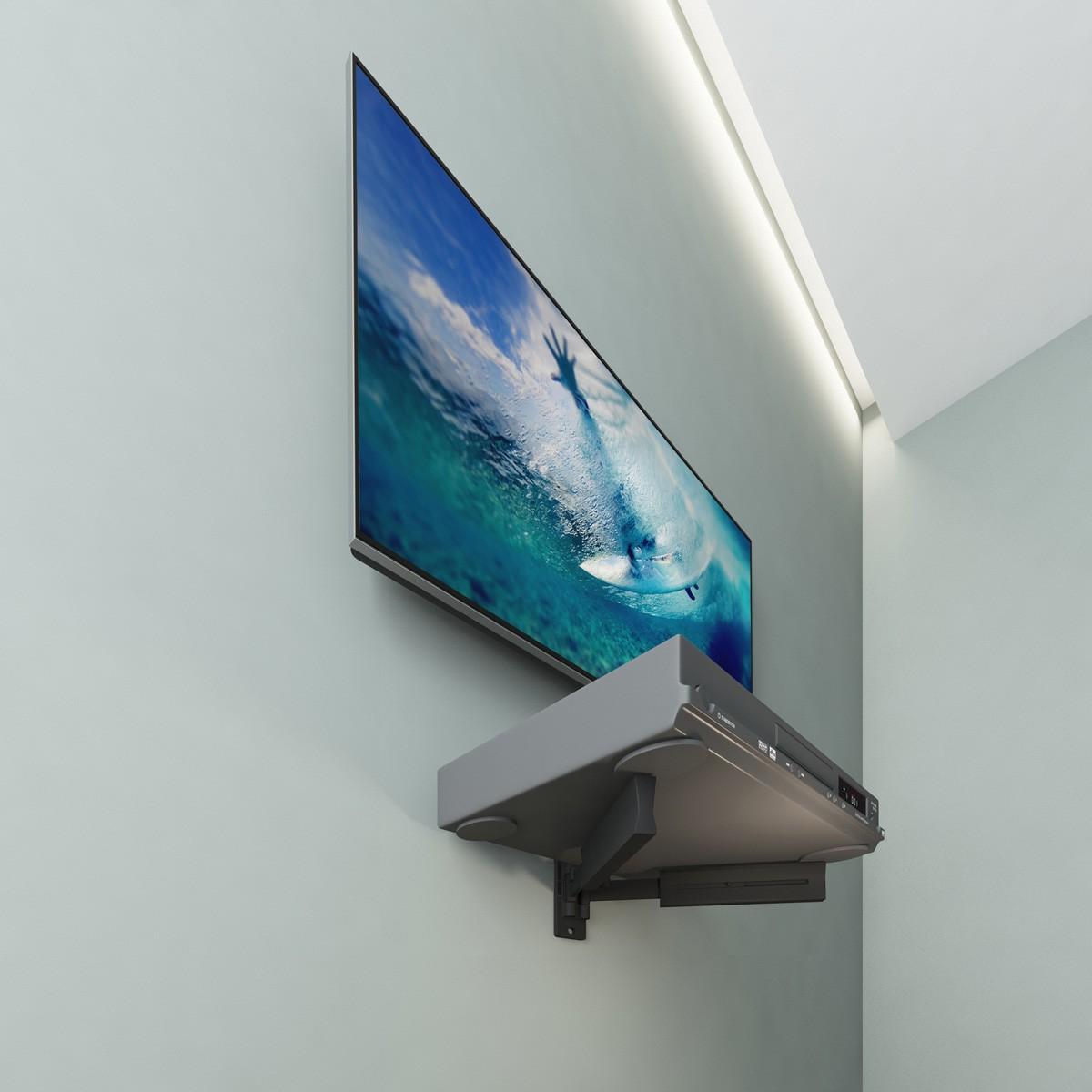 Suporte fixo para TV de 14 a 84 pol + suporte para receptor digital SDVD-PLUS