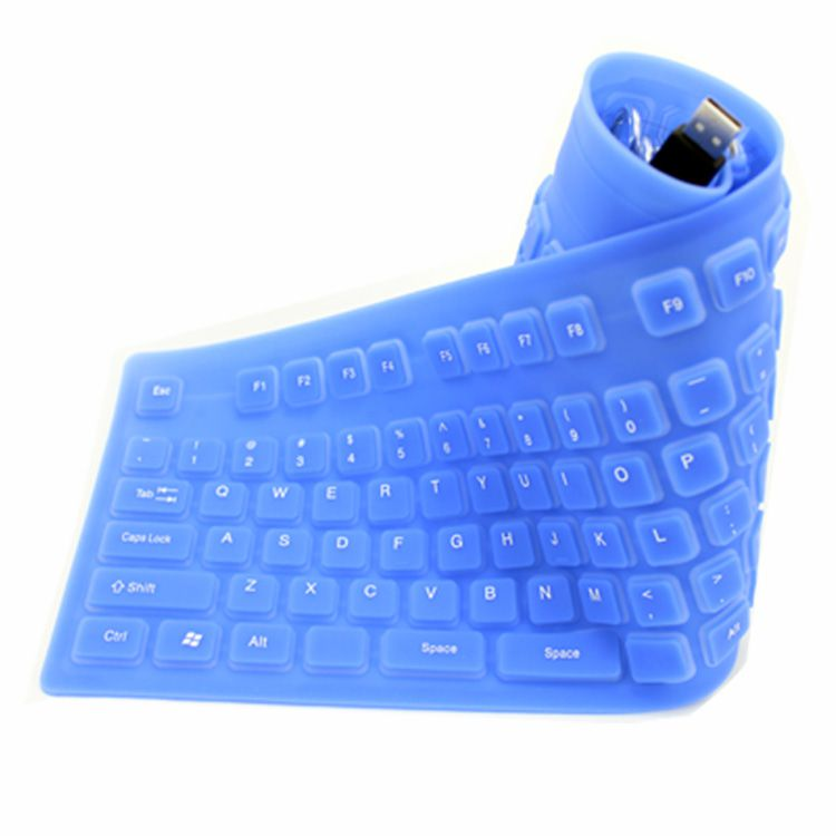 Teclado de silicone flexível com teclado numérico - LBM