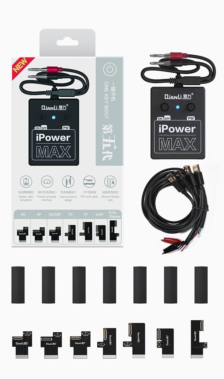 Cabo De Alimentação E Teste Qianli Ipower Max Phone 6 Ao X/XS/XS MAX + Chave Do Conector Do Cabo Flexível Do Ipower