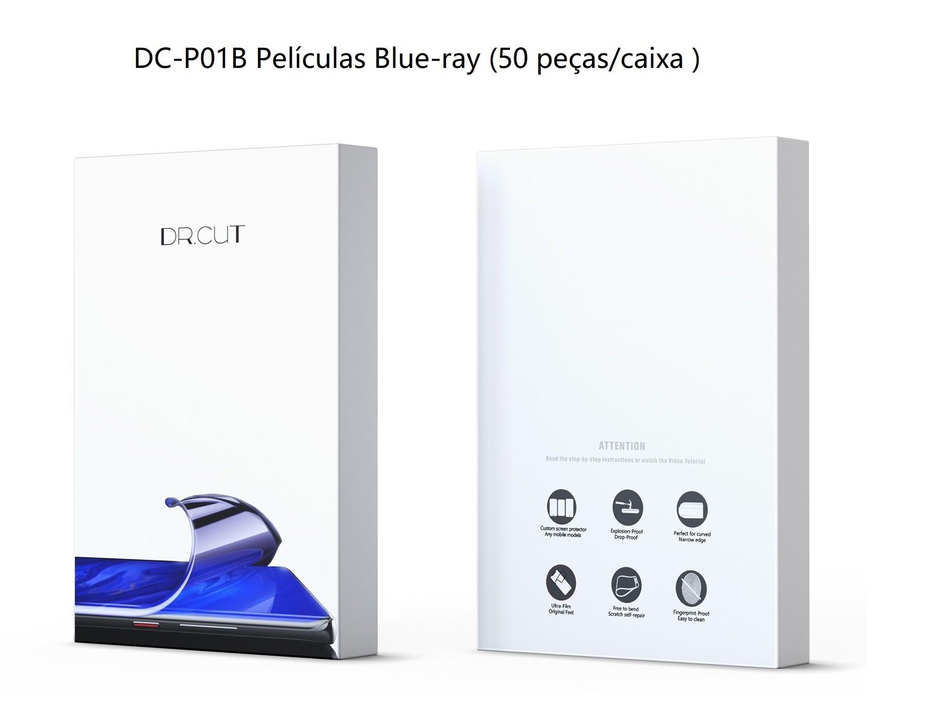 DR. CUT DC-P01B Películas anti raio azul (50 folhas) para Dr. Cut DC20