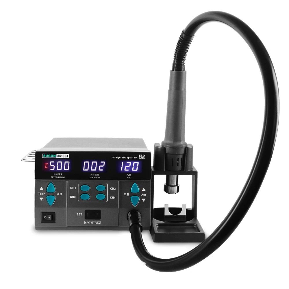 Estação de retrabalho de ar quente SUGON 8610DX LED Tela sem chumbo com 5 bicos 1000W 110V/220V
