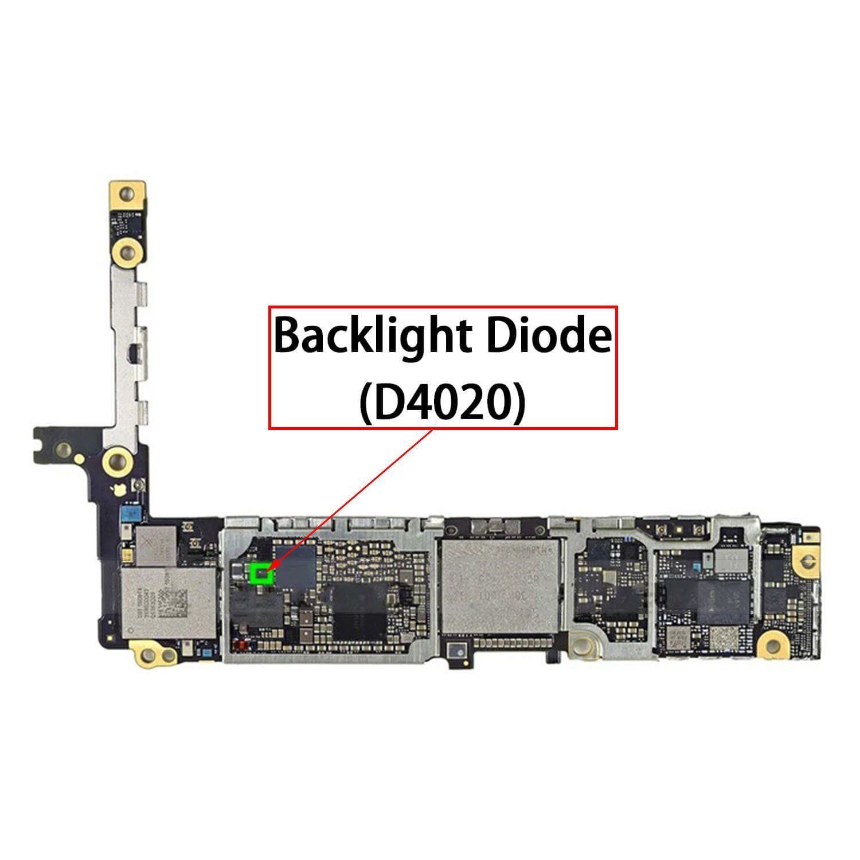 ic Diodo luminoso D4020 2 Pin para iPhone 6S / 6S Plus