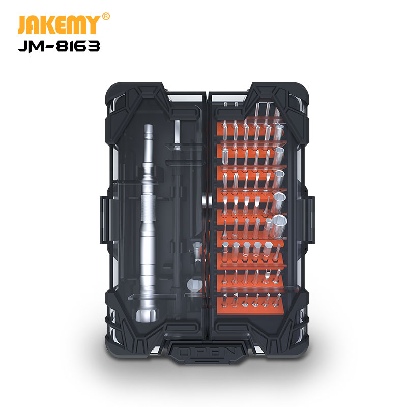 Jakemy JM-8163 Kit de ferramentas multifuncionais 62 peças para conserto