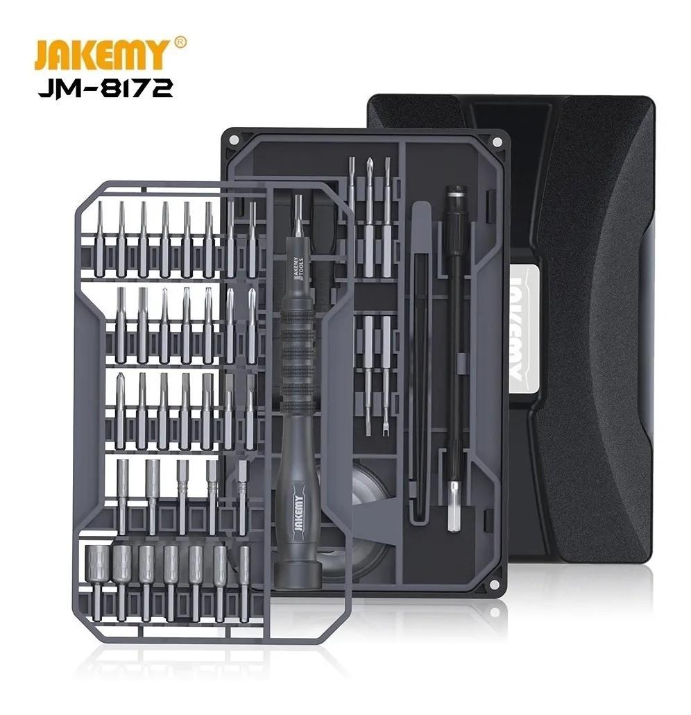 Jakemy Jm-8172 73 peças Kit de chave de fenda e ferramenta de abertura para celular, computador, conserto de relógios