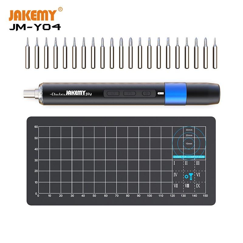 Jakemy JM-Y04 Kit de chave de fenda elétrica de precisão de dupla dinâmica para conserto de celulares e máquinas de jogos