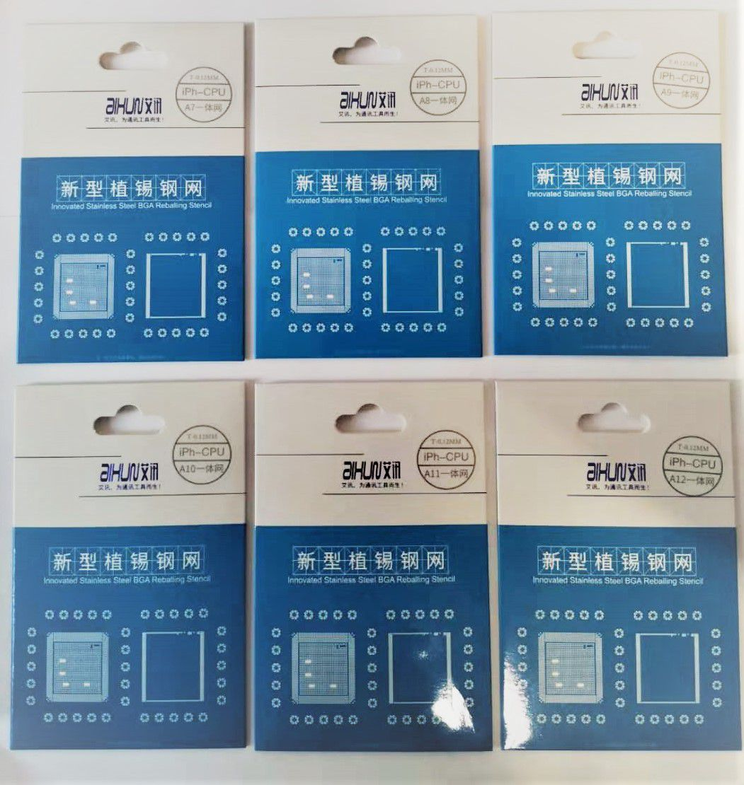 JC Aixun A7-A12 ESTILO DE REBALL BGA PARA IPHONE 5S / 6 / 6P / 6S / 6SP / 7 / 7P / 8 / 8P / X / XS / XSMAX / XR