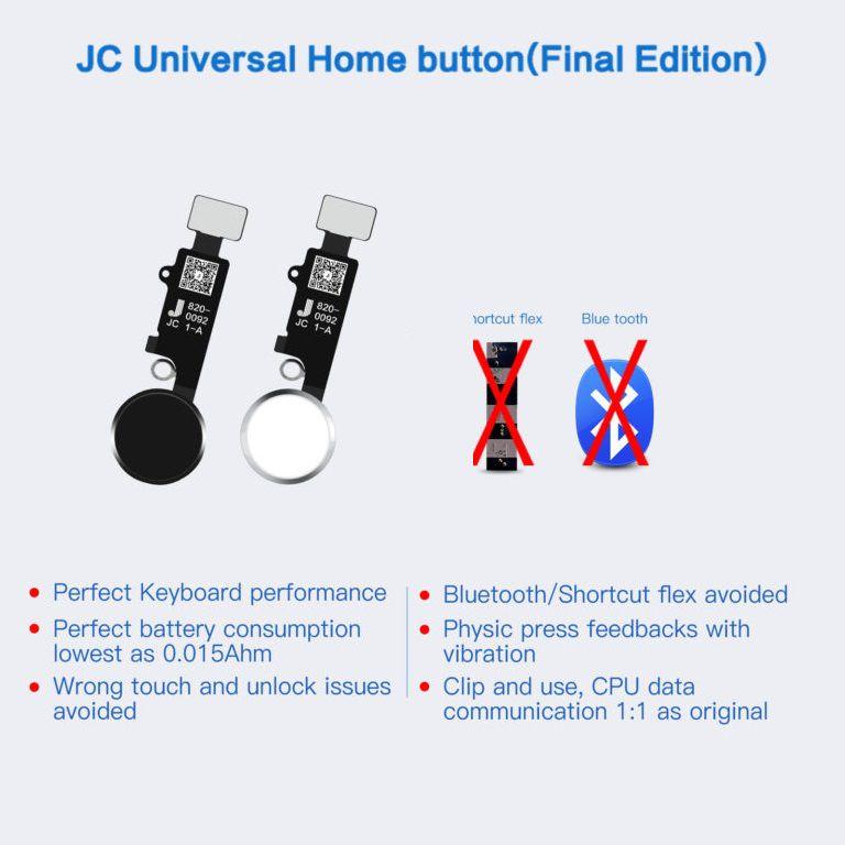 JC Home Button Função de retorno de reparo universal para iPhone 7 / 7p / 8 / 8p/SE (última versão)