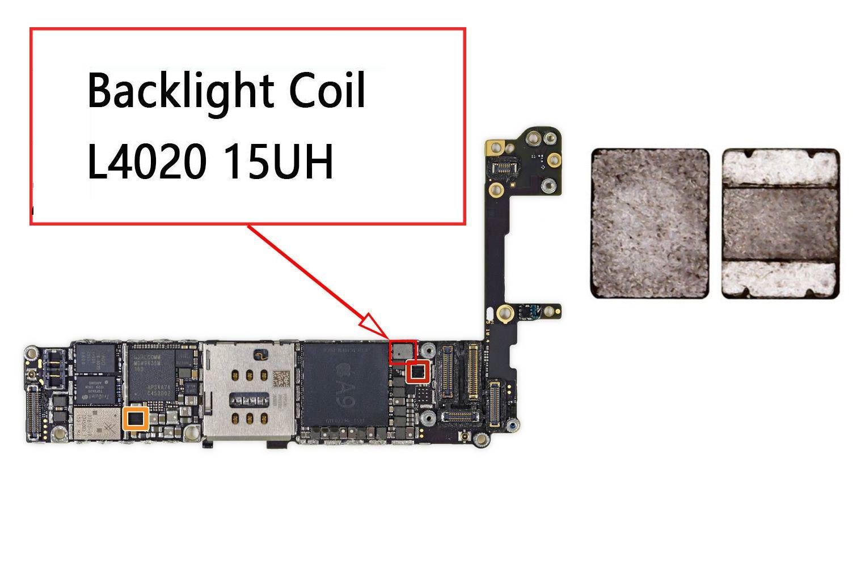 L4020 luz de fundo  backlight Ciol 15uH para iPhone 6S/ 6S Plus