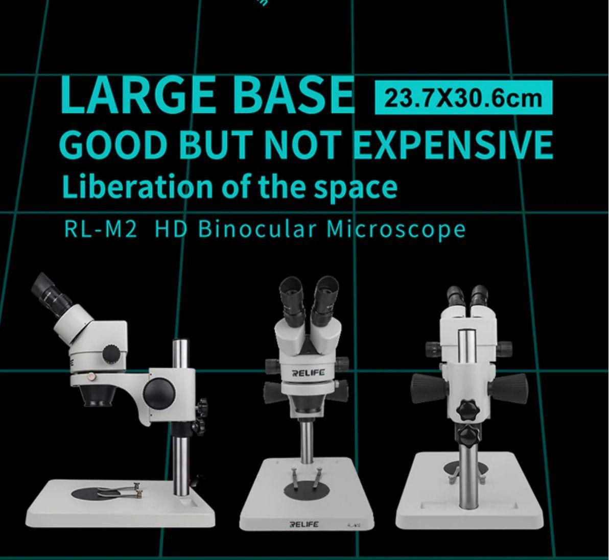 Microscópio Binocular Relife Rl-m2  7-45 Vezes+ Luz Led + Lente 0.5x