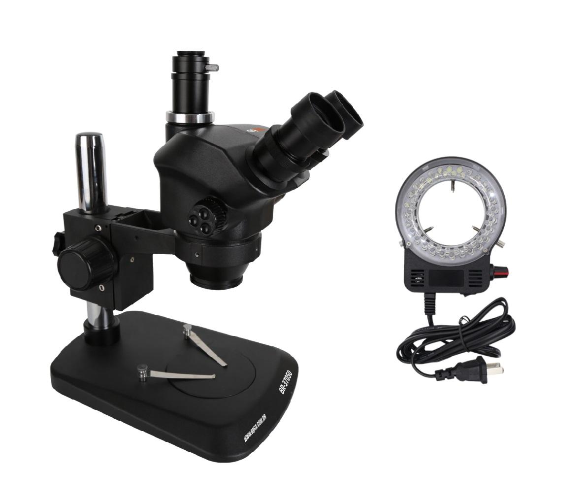 Microscópio Trinocular Simul-Focal 99FIX KS 37050 7X-50X para conserto de telefones celulares Bivoltagens  com Lâmpada LED