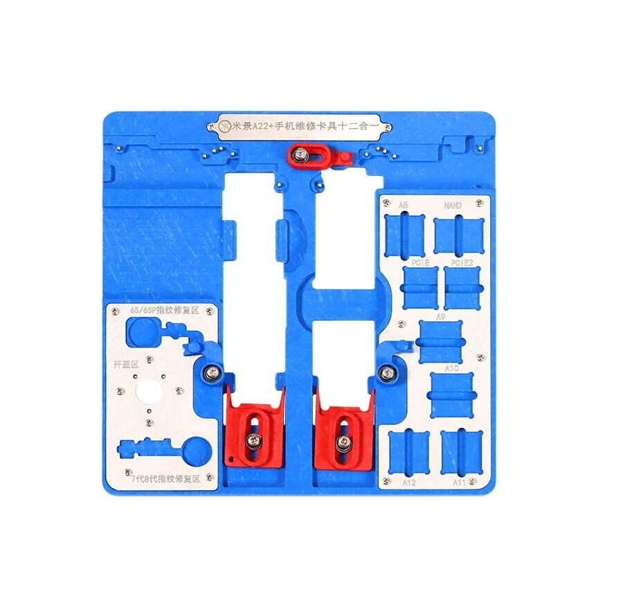 MIJING A22 +  9 EM 1 FIXAÇÃO/ SUPORTE DE TESTE DE PLACA MATERIAL PARA PHONE 5S-XR