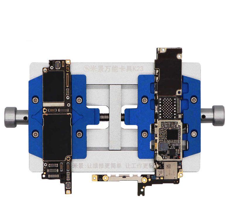 MIJING K23 SUPORTE UNIVERSAL DO TIPO DA PLACA DE PCB UNIVERSAL DO EIXO DUPLO PARA iPHONE, SAMSUNG, XIAOMI