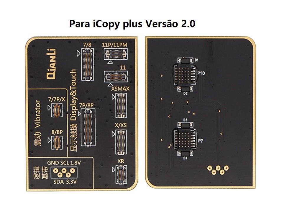 Qianli 7-11 Pro Max LCD Sensores de luz e chips de vibradores para iCopy Plus versão 1.0 ou versão 2.0