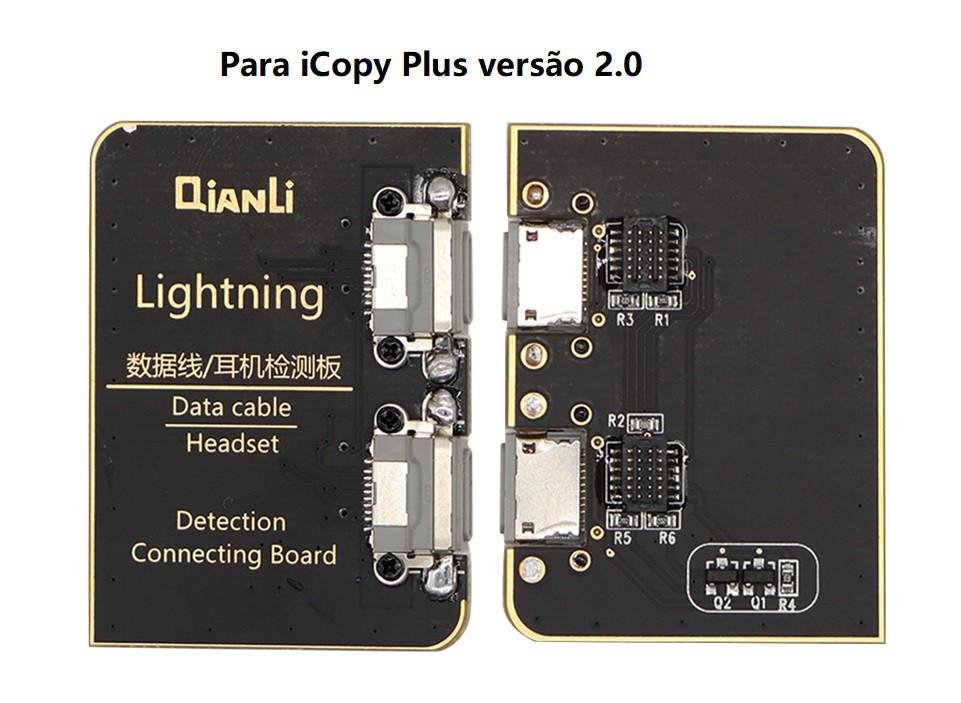 Qianli Lightning Placa de conector de detecção de cabo de dados  /  fone de ouvido  para iCopy Plus versão 1.0 ou versão 2.0