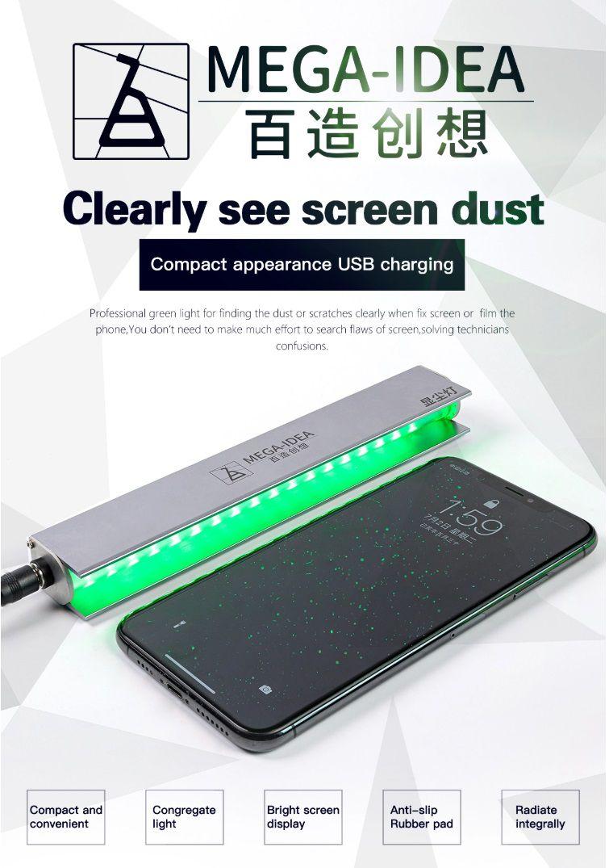 Qianli MEGA-IDEA mini iSee lâmpada de detecção de poeira e arranhões para reparo de tela