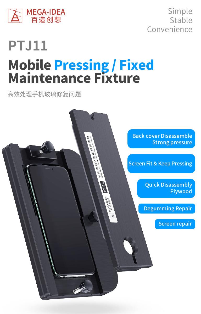 Qianli Mega-idea PTJ11 Dispositivo móvel de prensagem / manutenção fixa para reparo traseiro