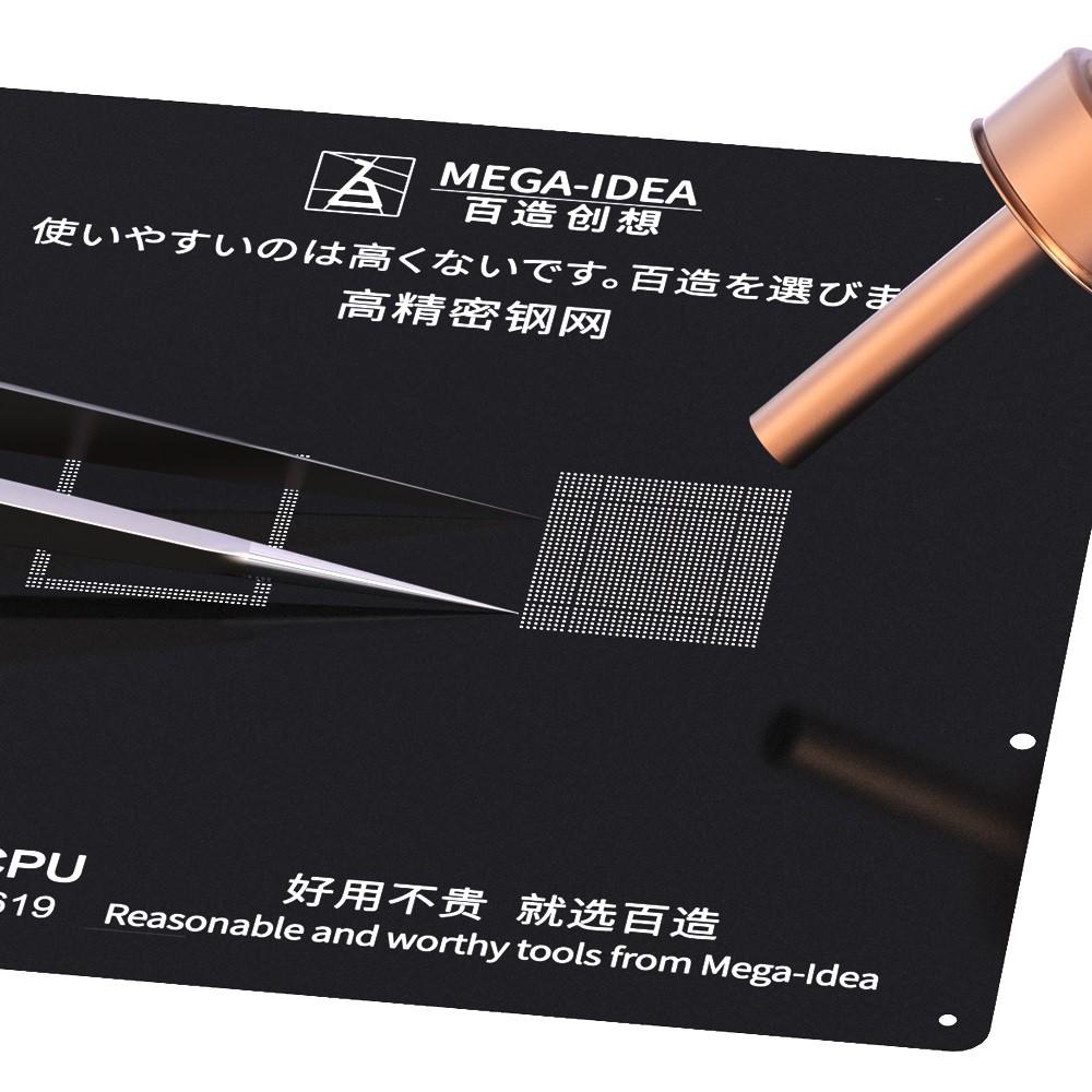 Qianli Mega-idea Reballing Back Stencil Para iPhone A8-A12 CPU