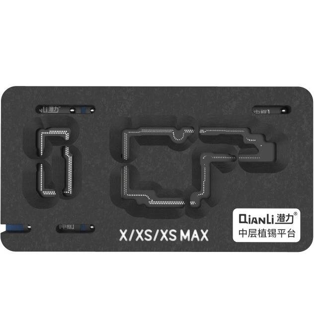 QIANLI  PLATAFORMA REBALLING DO QUADRO MÉDIO PARA iPHONE X XS XSMAX / 11/ 11 Pro Pro Max