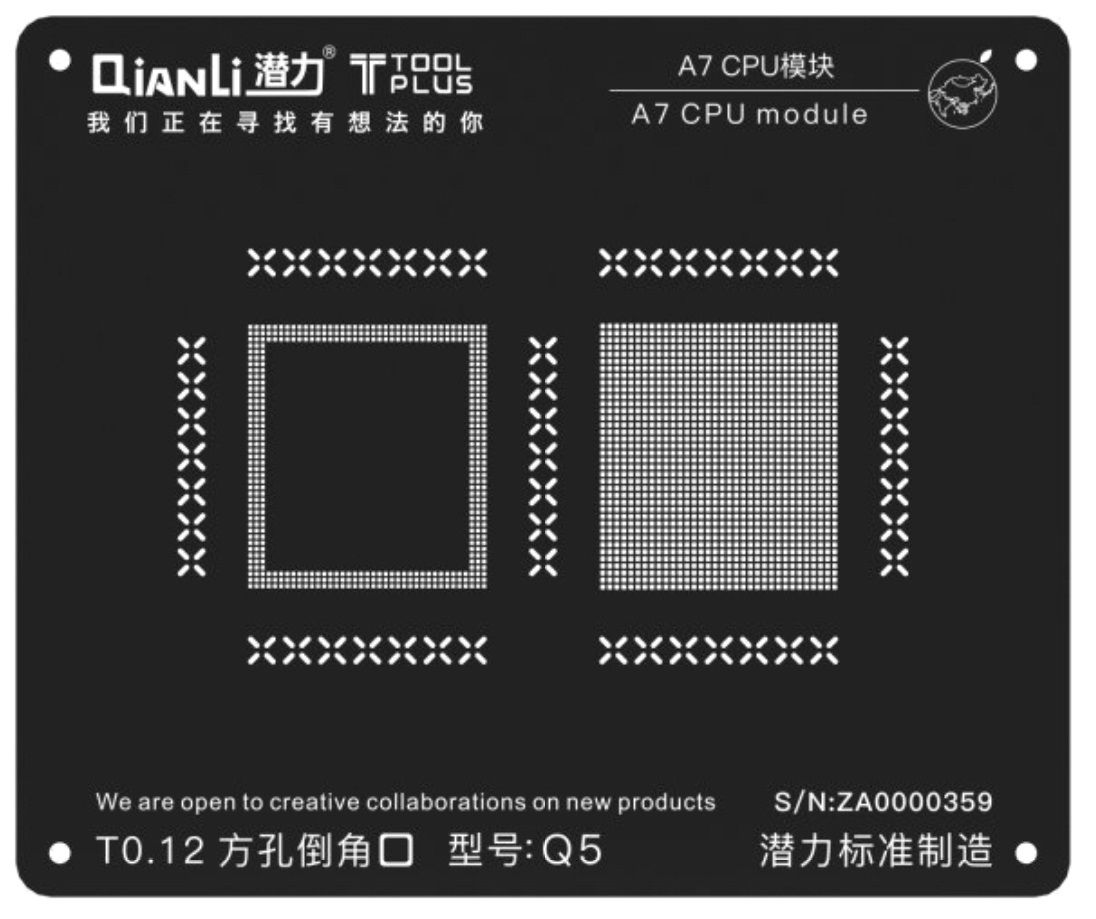 QIANLI TOOLPLUS IBLACK MÓDULO PARA CPU IPHONE BGA REBALLING 3D IBLACK STENCIL Grande Promoção