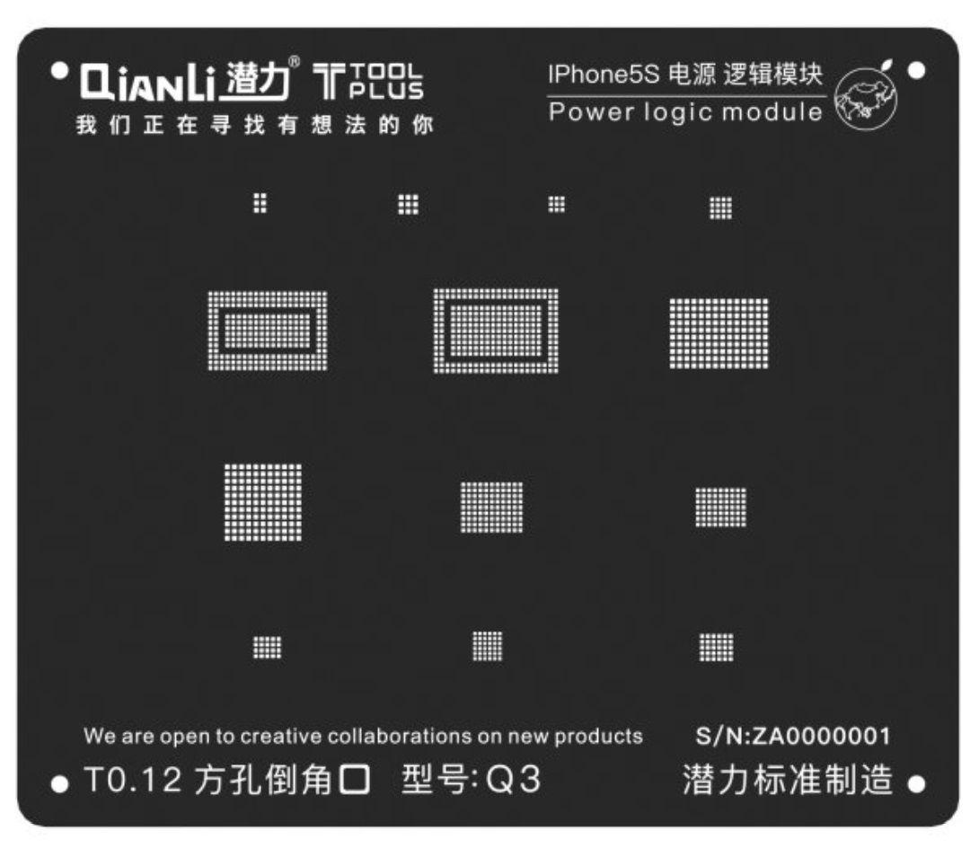 QIANLI TOOLPLUS MÓDULO DE LÓGICA DE ENERGIA IPHONE BGA REBALLING 3D IBLACK BLACK STENCIL  grande promoção