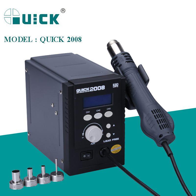 QUICK 2008 ESD DIGITAL DISPLAY SOLDER REWORK ESTAÇÃO DE SOLDADURA 110V/220V 100% Original