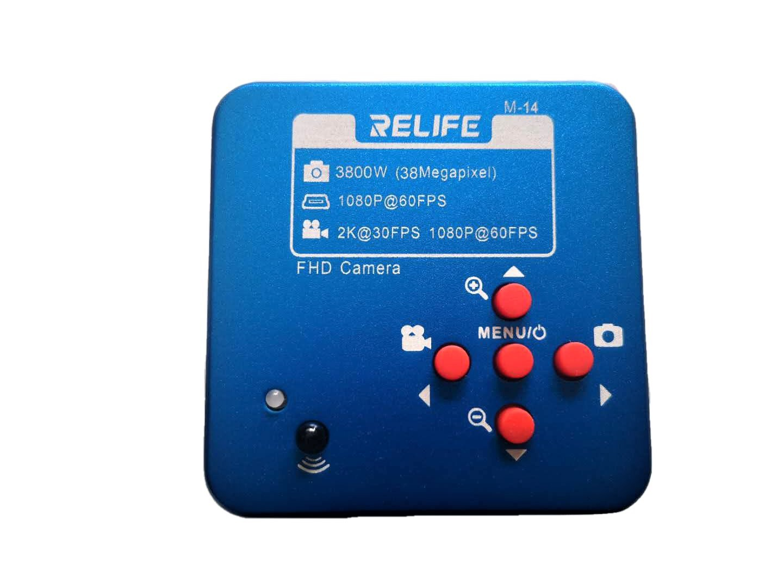 Relife M-14  2100W (21MP) HDMI USB MICROSCÓPIO DA INDÚSTRIA CÂMERA 2K 1080P 60FPS
