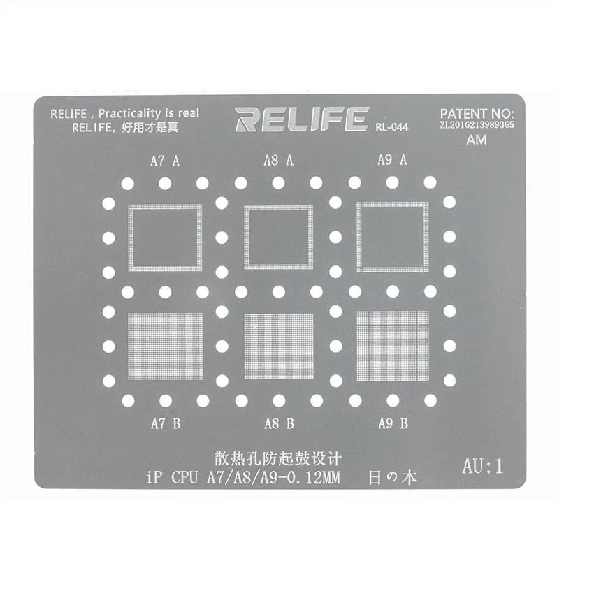 RELIFE RL-044  AU1 PRECISÃO BGA STENCIL PARA IPHONE CPU A7, A8, A9 (5S,  6, 6 Plus, 6S, 6S Plus)