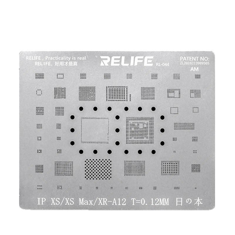 Relife Rl-044 Precisão Bga Stencil Para iPhone XS, XR, XS MAX ICs e CPU A12
