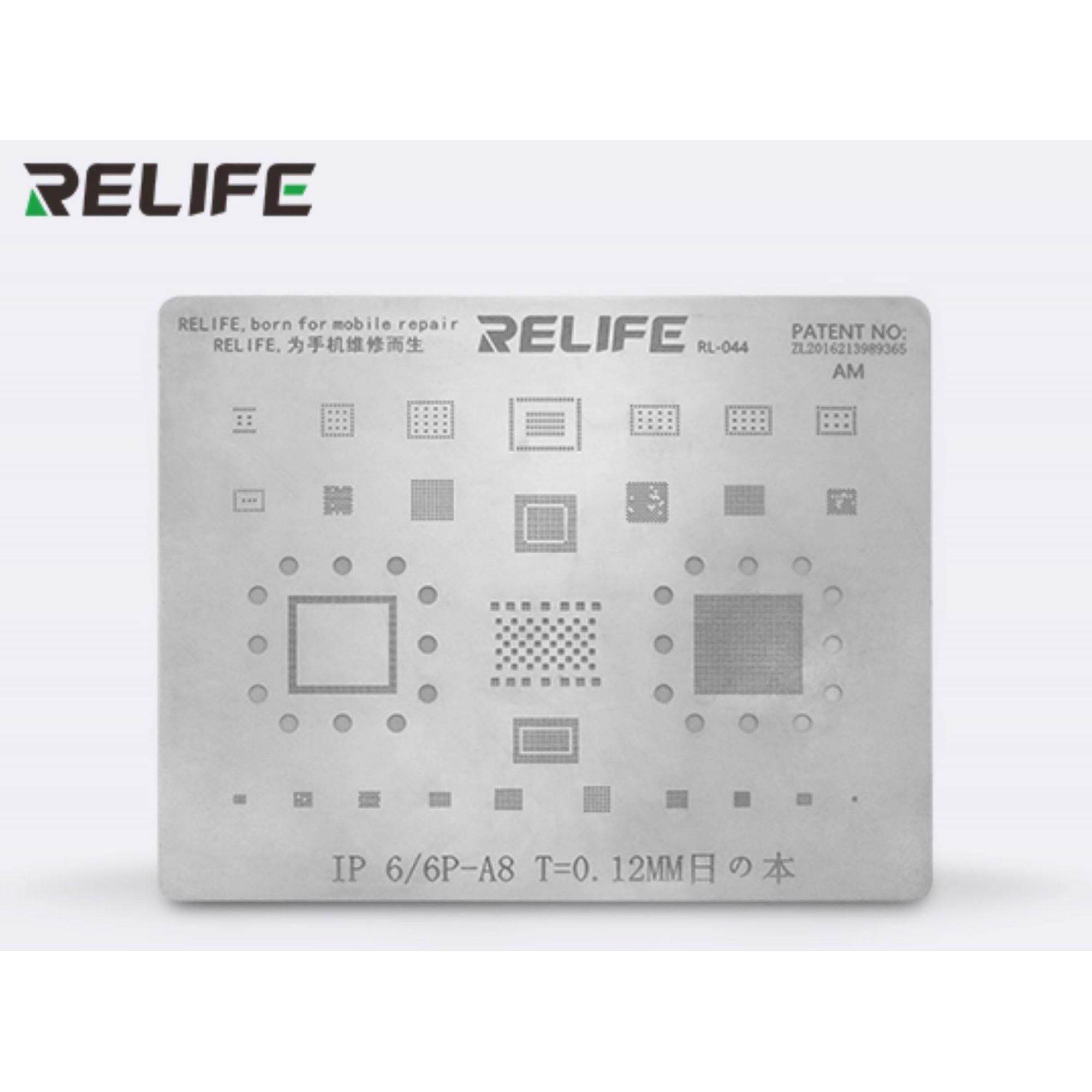 Relife Rl-044 Precisão Bga Stencils Para iPhone 6g-11 pro max max ICs e CPU A8-A13