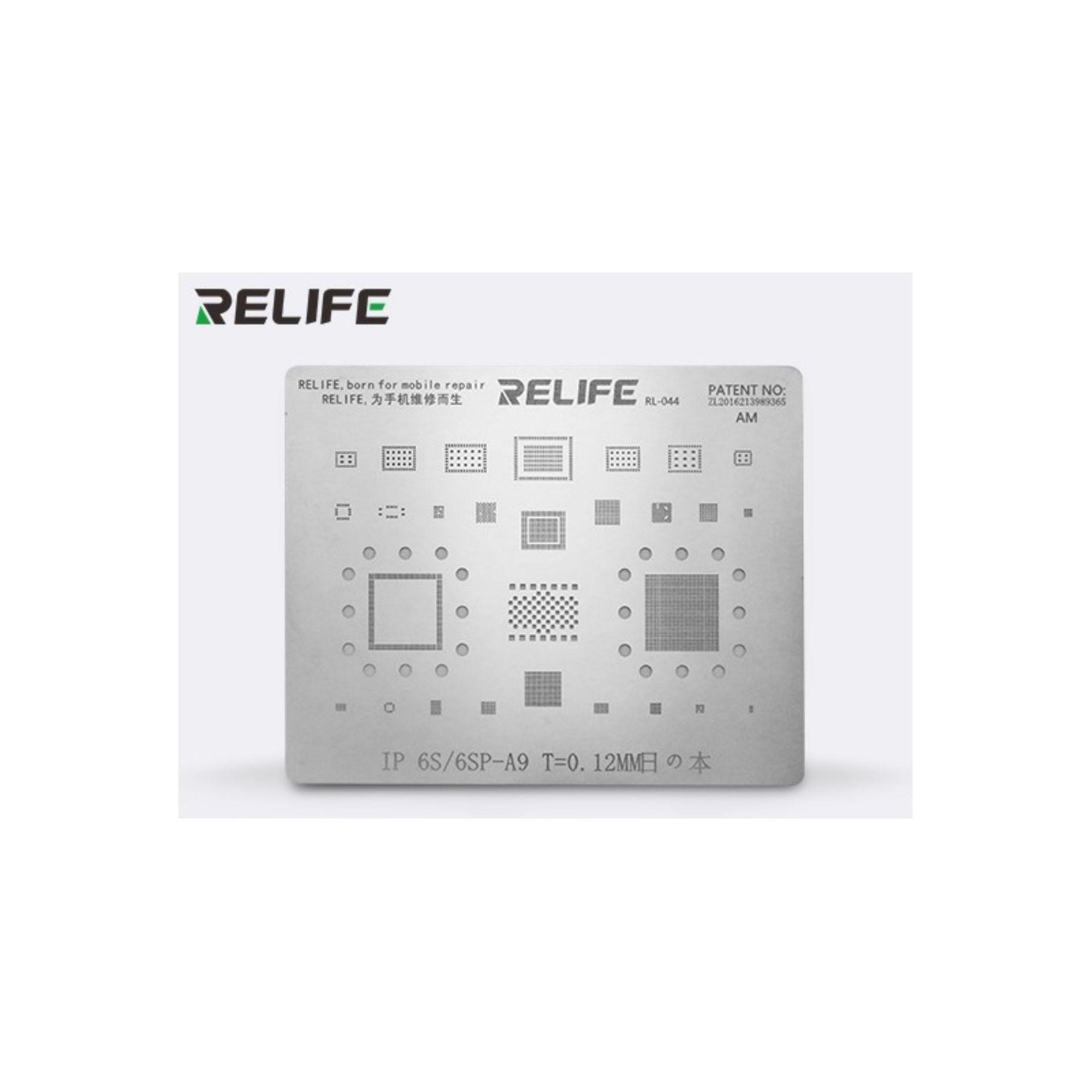 Relife Rl-044 Precisão Bga Stencil Para iPhone 6S, 6S Plus ICs e CPU A9