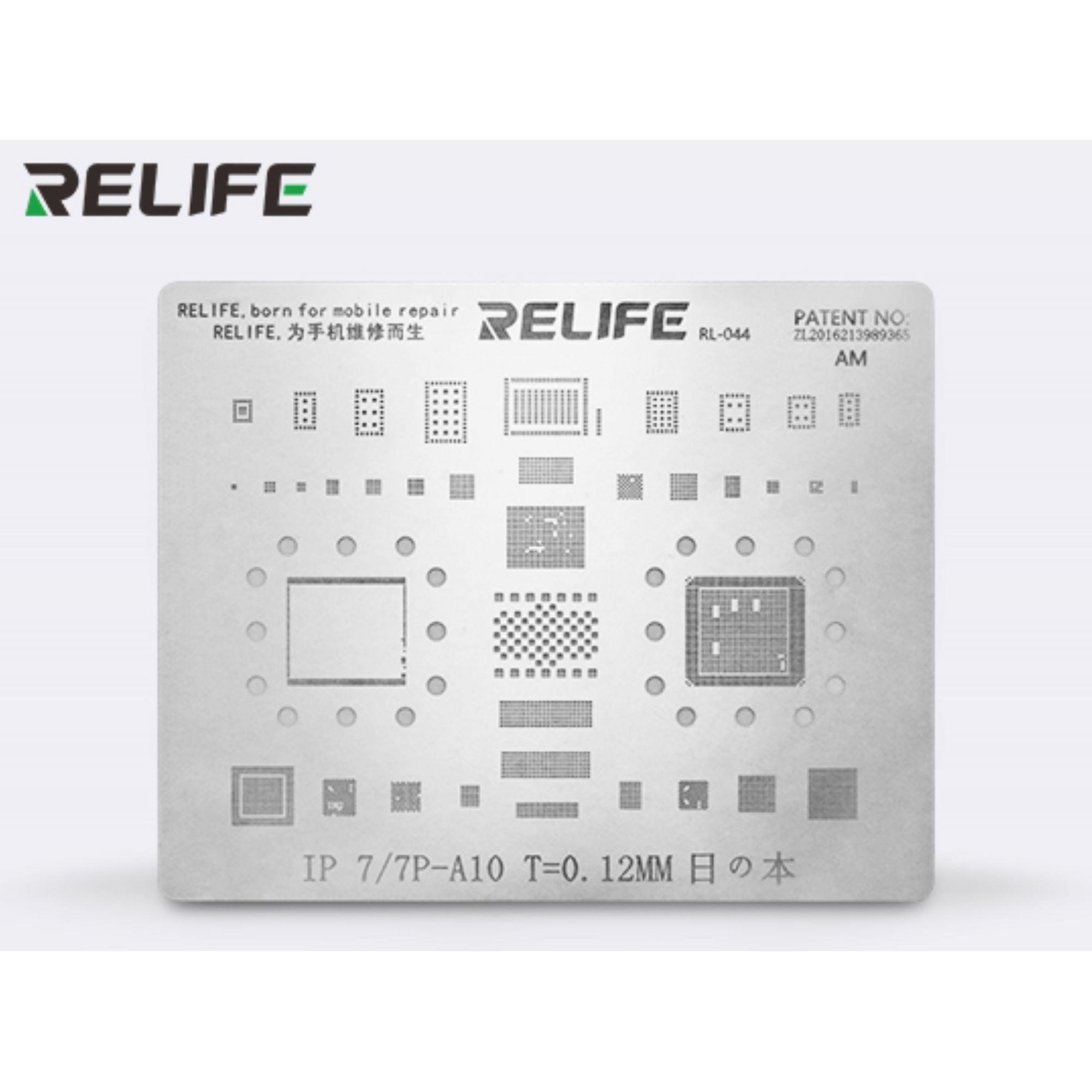 Relife Rl-044 Precisão Bga Stencil Para iPhone 7, 7 Plus ICs e CPU A10