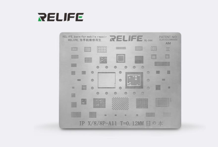 Relife Rl-044 Precisão Bga Stencil Para iPhone 8, 8 Plus, X ICs e CPU A11