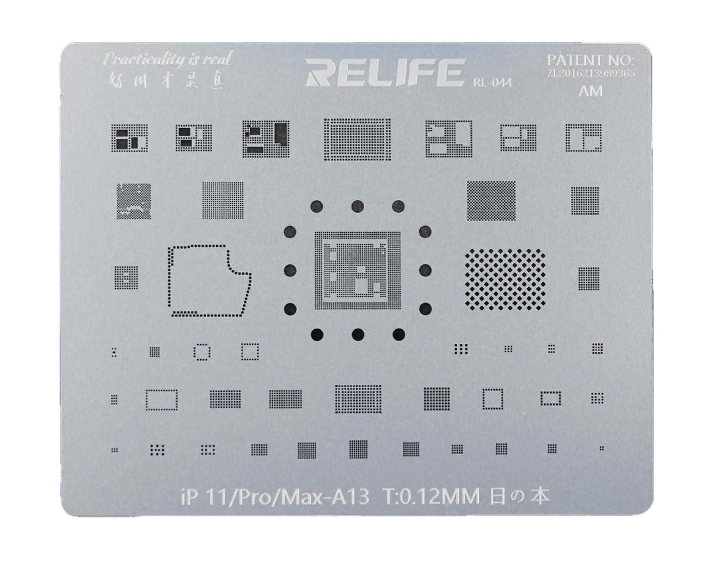 Relife Rl-044 Stencil Para iPhone 11, 11 pro, 11 pro max ics e CPU A13