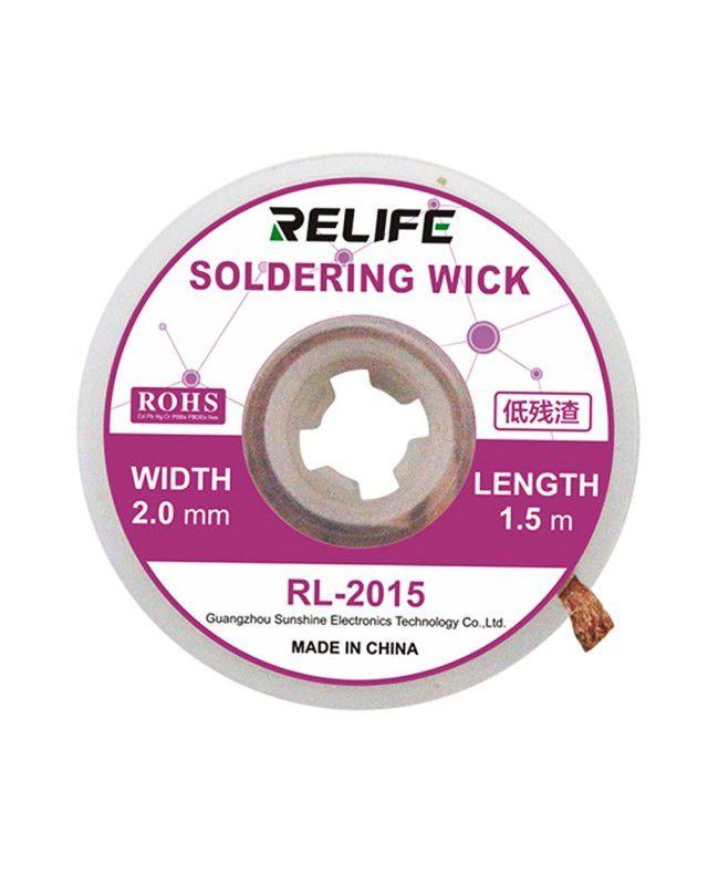 Relife RL-2015 Desoldering Wick (1,5 m de comprimento - 2,0 mm de largura)