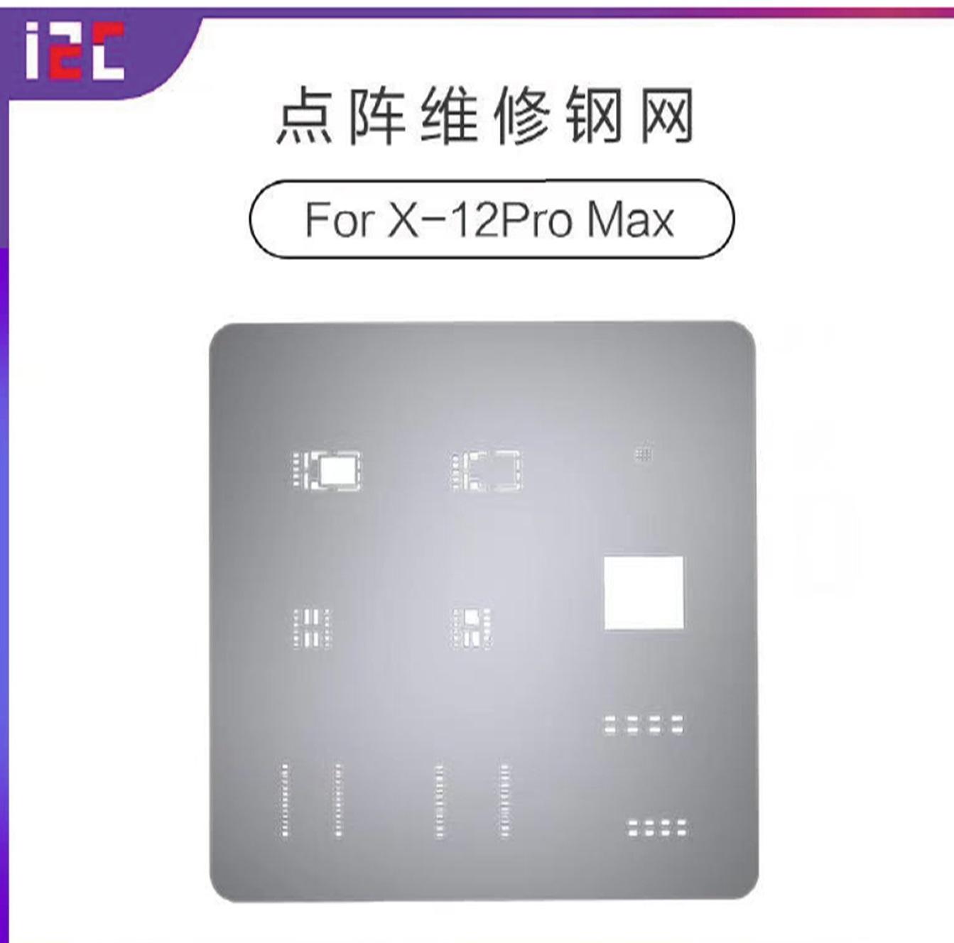 Stencil / Estêncil de matriz de pontos de ID face i2C para iPhone X-12 pro max