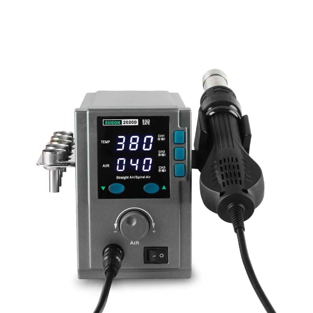 SUGON 2020D Estação de soldagem de ar quente para soldagem de PCB 700W 110V/220V